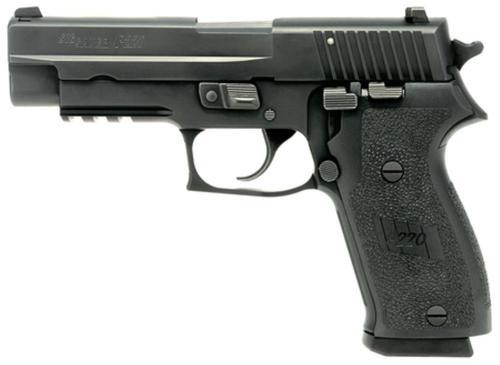 Sig P220 45 ACP 4.4In Nitron Black Da/Sa Siglite E2 Grip (2) 8RD Steel MAG CA Compliant SRT