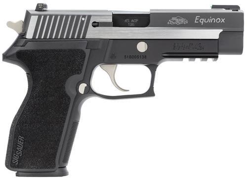 Sig P227 Equinox 45 ACP 4.4 Barrel 2 Tone Fiber Optic Sight & Siglite Night Sights 10 Rd Mag