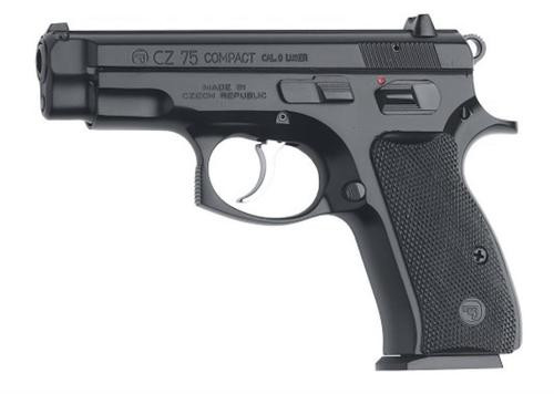 "CZ 75 Compact SA/DA 9mm, 3.8"" Barrel, Black, Poly Grip, 10rd"