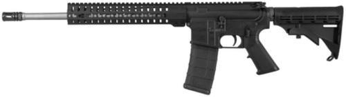 """CMMG MK4 T 5.56x45mm 16.1"""" Medium Taper Barrel RKM11 KeyMod Hand Guard A2 Pistol Grip and Mil-Spec M4 Butt Stock Black 30rd"""