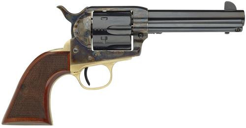 "Taylors 1873 Ranch Hand 45 Colt 4.75"" 6 Checkered Walnut Blued"