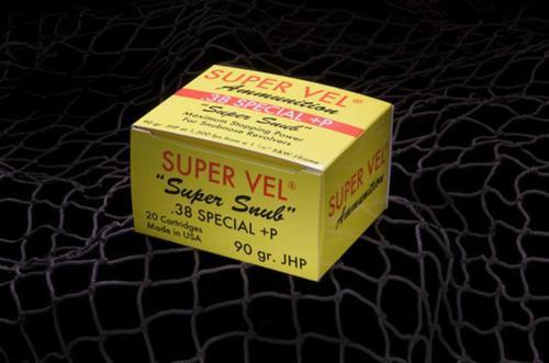 Super Vel .38 Special +P 90gr, 20rd Box