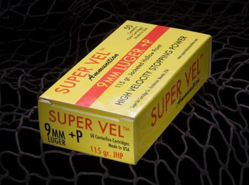 Super Vel 9mm +P 115gr, 50rd Box