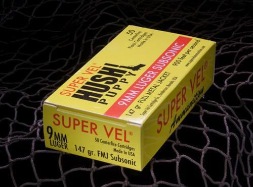 Super Vel 9MM +P 147gr, Hushpuppy 50rd Box
