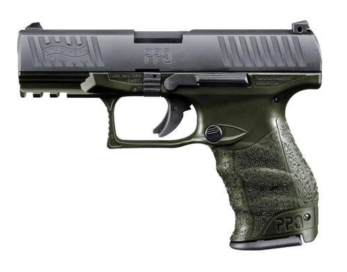 """Walther Arms PPQ M2 9mm 4"""" Barrel OD Green Frame 15rd Mags"""
