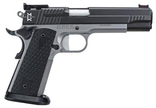 "Sig 1911 Max Michel 9MM 5"" Barrel Reverse 2-Tone Adjustable Sights Black G10 Grip Ice Magwell (2) 9rd Mags"