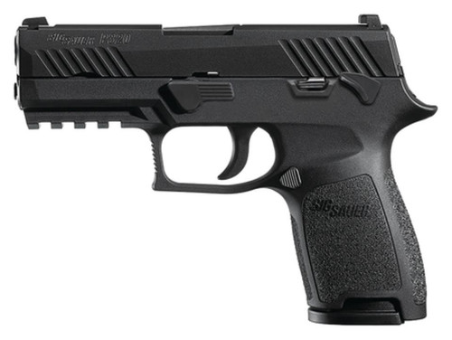 Sig P320 45 ACP 3.9In Barrel, Nitron Black, Striker Siglite (2) 9RD Steel MAG Manual Safety Rail