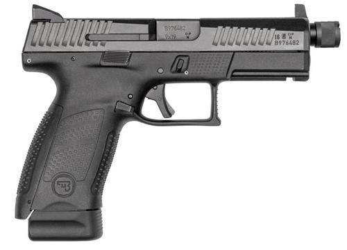 "CZ P-10 Compact 9mm, 4.6"", 15rd, Black, Suppressor Ready"