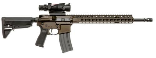 """Bravo Company Recce 16 KMR-A Carbine 223 Rem/556NATO, 16"""" Barrel, 1:7 Twist, Dark Bronze Finish, BCMGUNFIGHTER Mod 0 Stock, BCMGUNFIGHTER Mod 3 Pistol Grip, 30Rd, KMR Alpha 15"""" Handguard, BCMGUNFIGHTER Mod 0 Compensator"""