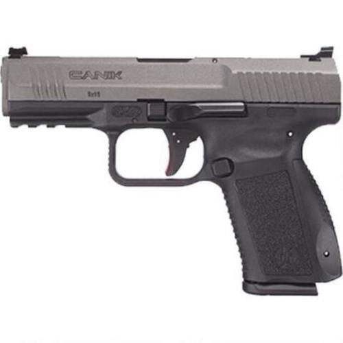 "Canik TP9SF Elite 9MM, 4.19"" Match Bbl, Tungsten Finish, 2x15 Rnd Mags"