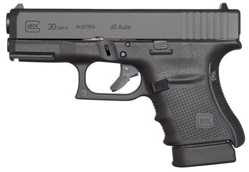 """Glock 30 Gen4 45 ACP 3.78"""" Fixed Sights 10rd Made in the USA"""