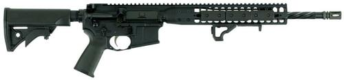 "LWRC DI AR-15 5.56/.223, 16"" Barrel, A2 Flash Hider, 6-Pos Stock, Black, 10rd CA Compliant"