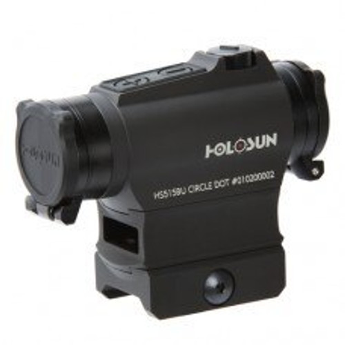 Holosun 515BU 2 MOA/65 MOA QD, Killflash, Shake Awake, Flip Caps Red Dot Sight