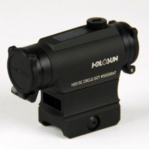 Holosun QD 2/65 MOA Solar Killflash Red Dot Sight with Flip Caps