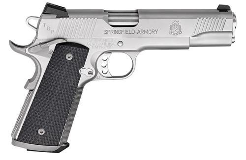 "Springfield 1911, 45 ACP, 5"", Black G10 Grips, Stainless, 7rd"