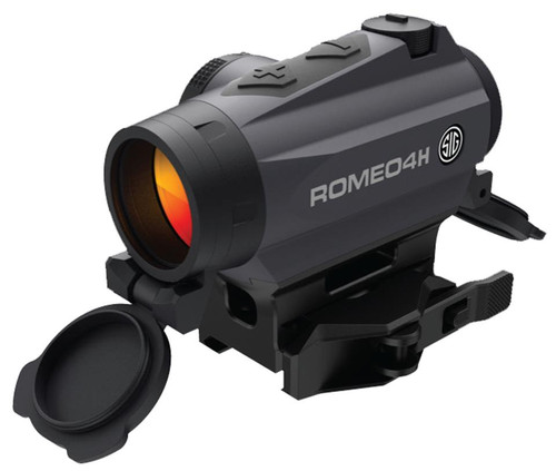 Sig Romeo4h RED DOT Sight Ballistic Circle DOT 0.5 MOA Adjustable Side Battery Torx AND QR Mounts Graphite