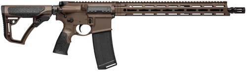 "Daniel Defense DDM4 V7 5.56mm Milspec+ 16"" Barrel Dark Brown"