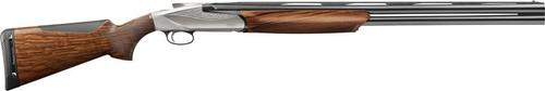 "Benelli 828U 12 Ga, 30"", AA-Grade Satin Walnut, Engraved Nickel, Progressive Comfort"