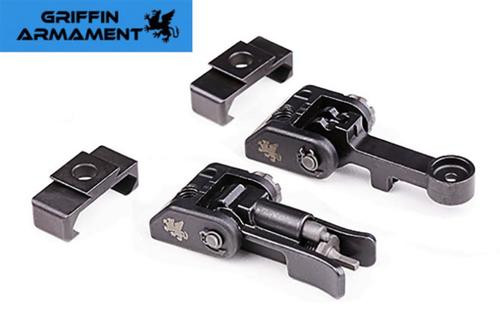 Griffin Armament, M2 Sights, Front/Rear Folding Dual Aperature