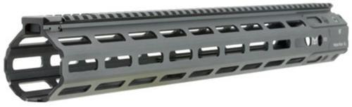 """Strike Strike Mega Fins AR-15 Handguard Rail, 6061-T6 Aluminum, Black, 17"""" M-LOK"""
