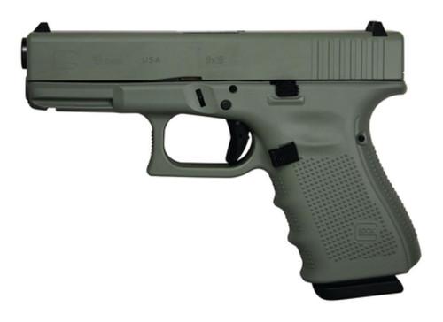 "Glock 19 Gen4 9mm 4"" Barrel Cerakote Elite Jungle Finish, USA, 15rd Mag"