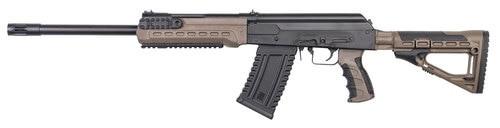 "Kalashnikov USA KS-12, 12 Ga 3"" Chamber, 18"" Barrel with Muzzle Brake, Flat Dark Earth, Collapsible Stock, 1-10Rd Magazine, Handguard with Picatinny Rails"