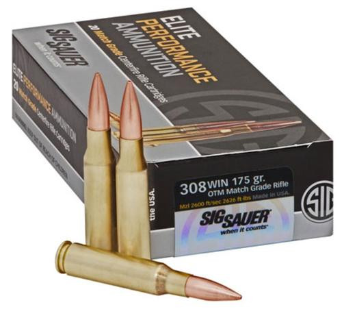 Sig Ammo .308 Win, 175Gr, Elite Match Grade, OTM, 20rd Box