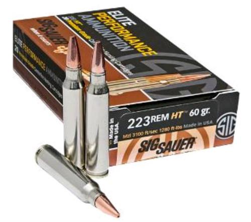 Sig Ammo, 223 Rem, 60Gr, Elite Hunting HT, 20rd Box