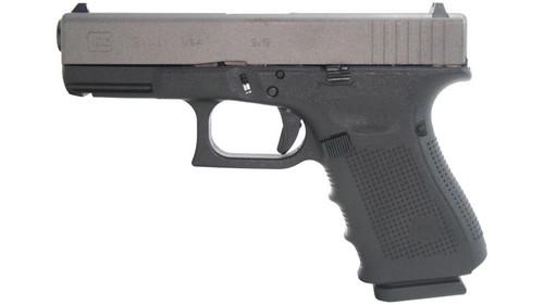 """Glock G19 Gen4 9mm, 4"""" Barrel, Tungsten Slide Finish 15rd Mag"""
