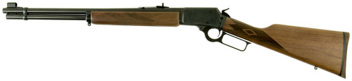 "Marlin 1894, Lever Action, 45 Long Colt, 20"", Blued, Straight Walnut, Right Hand, Semi-Buckhorn, Hood Front, 10rd"