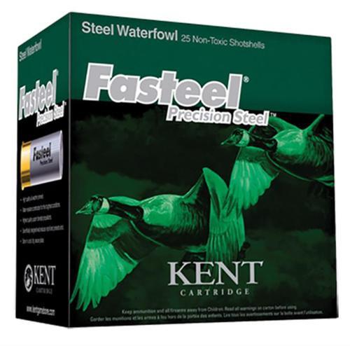 """Kent Fasteel 12 Ga, 3.5"""", 1 1/4oz, 1 Shot, 25rd/Box"""