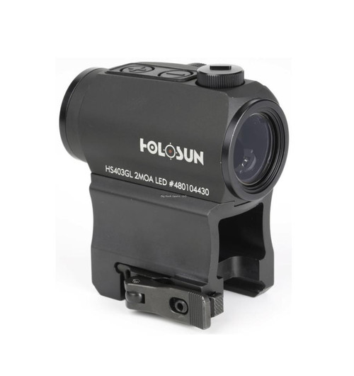 Holosun Red Dot Sight, 1X, 20MM, 2MOA, QD High And Low Mount