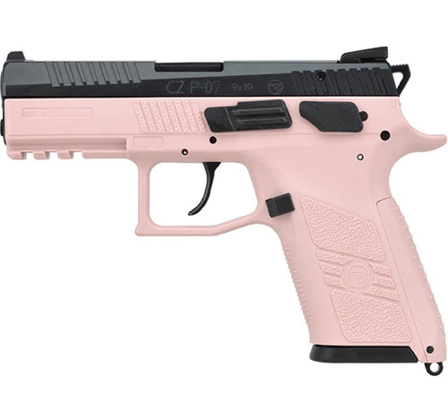 """CZ P-07 Compact 9mm 3.8"""" Barrel Pink Polymer Frame Fixed Sights15rd Mag"""