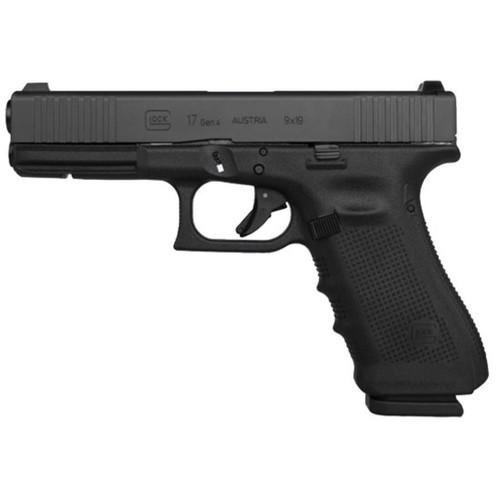 """Glock G17 Gen4 9MM 4"""" Barrrel Front Serrated Slide Ext Slide Stop 17rd Mag"""