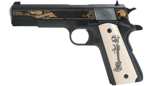 Springfield 1911-A1 Battlefield Cross Limited Edition 45 ACP Ivory-style Grips Plus extra Springfiled Grips
