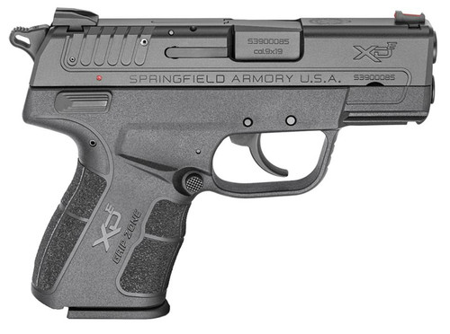 "Springfield XD-E 9mm 3.3"" Barrel Fiber Optic Sight Ambidextrous Safety 9rd Mag"
