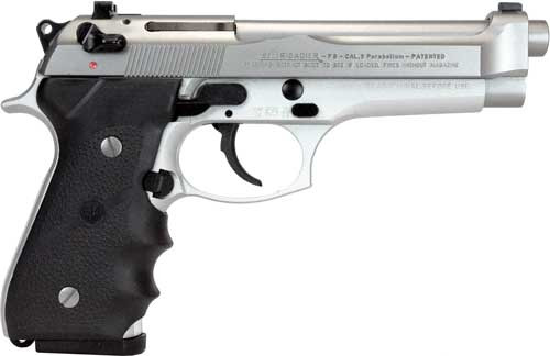"Beretta 92FS Brigadier, 9mm, 4.9"", 15rd, Inox Finish"