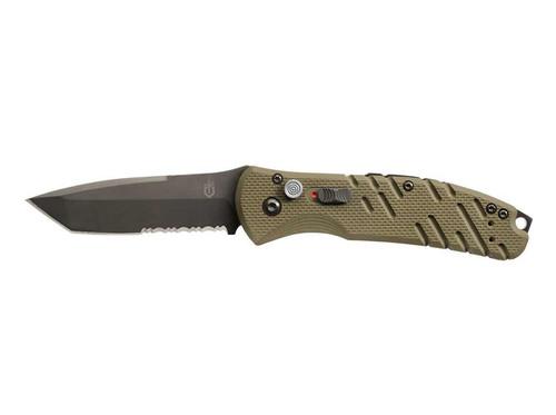 Gerber Propel Auto, OD Green, Serrated Edge, Black Blade, Automatic Knives