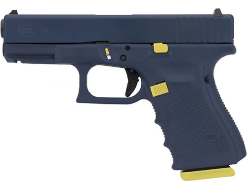 "Glock G19 Gen4 9mm, 4.02"", Navy Tribute, 15rd"