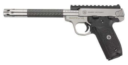 Smith & Wesson Victory Pistol 22LR, Volquartsen Carbon Barrel, Comp Installed, 2 Mags