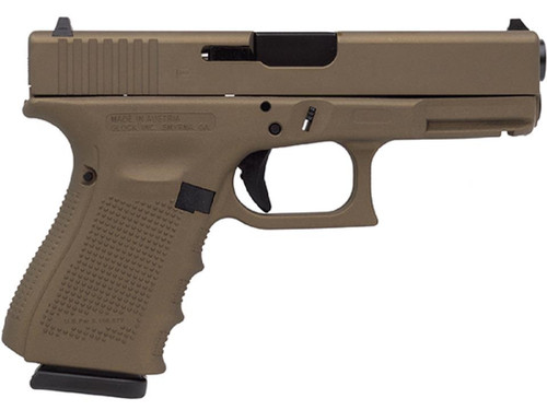 "Glock 19 Gen4 9MM 4"" Barrel Burnt Bronze Cerakote 15rd Mag"