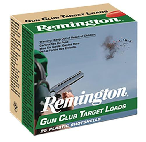 Remington Case Gun Club Target Loads 12 Ga 2.75 1-1/8oz 7.5 Shot, 250rd Case