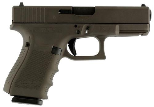 """Glock G19 Gen4 9mm, 4"""" Barrel, Midnight Bronze Finish 15rd Mag"""