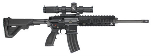 "HK MR556, 5.56mm Package 16.5"" Barrel, 1- 30rd magazineLeupold Mark 8 CQBSS 1.1 8X24mm Scope, Mounted"