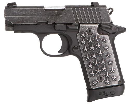 "Sig P238.380 ACP, 2.7"" Barrel, Aluminum Grip, Distressed Finish, 7rd Mag"