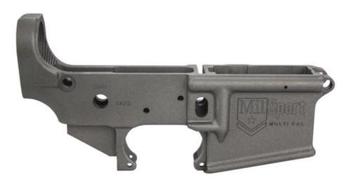 ATI Mil Sport AR-15 Stripped Lower Flat Cobalt Cerakote, Multi Cal
