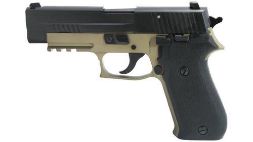 "Sig P220, 45 ACP, 4.4"", 8rd, Flat Dark Earth Frame, Rubber Grip"