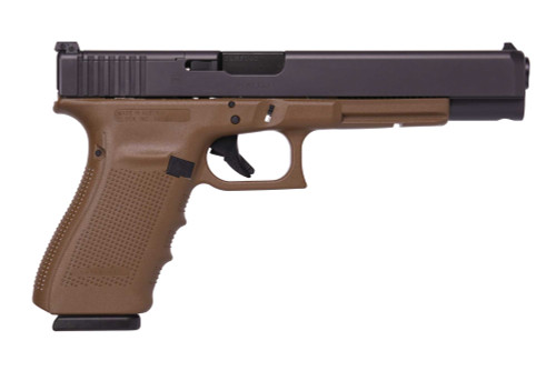 "Glock 40 Gen4 MOS, 10mm, 6"" Barrel, Dark Earth, Optic Ready, 3x 15rd Mags"