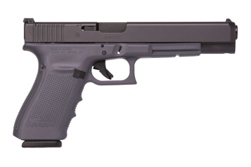"Glock G40 Gen4 MOS Long Slide, 10mm. 6"" Barrel Grey Frame, Modular Optic System 3-15rd Mags"
