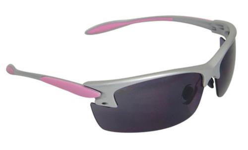 Radians Women's Shooting Glasses Smoke Lens With Silver/Pink Frame